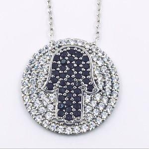 Jewelry - PAVÉ CRYSTAL HAMSA LUCKY HAND PROTECTION NECKLACE